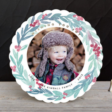 2015 holiday photo card design featured