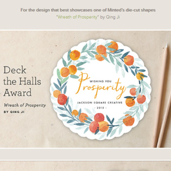 "my awarded design ""Wreath of Prosperity"" @minted"