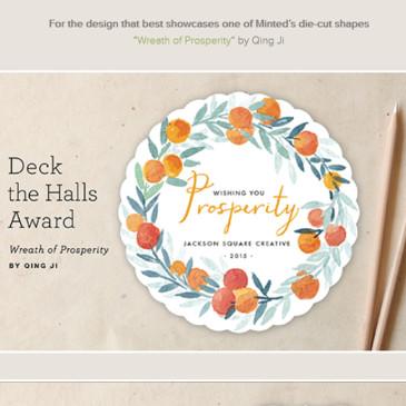 "my awarded design ""Wreath of Prosperity"" @minted"